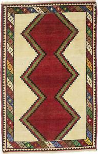 Tribal Geometric Semi Antique Small 3X5 Multicolored Gabbeh Oriental Rug Carpet