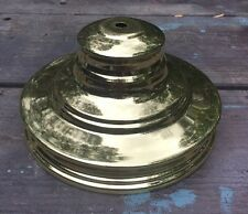 "NEW-VINTAGE BRASS LAMP PART BASE 8"" DIAMETER VINTAGE COOL"