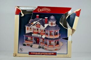 Lemax Harborview Inn Dickensvale Collectibles Porcelain Lighted House1994 w/FLAW