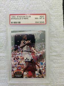 Shaquille O'Neal 1992-93 Stadium Club #247 RC Rookie graded PSA 8 HOF