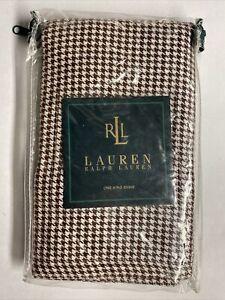 NEW Ralph Lauren KING Sham METROPOLITAN PLACE Houndstooth Brown & White