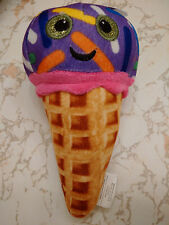 WAFFLE CONE ICE CREAM GRAPE W/ COLORFUL SPRINKLES 8 INCHES SMILEY FACE DIET