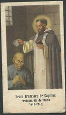 Estampa antigua Beato Francisco Capillas andachtsbild santino holy card santini