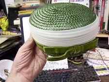 VINTAGE - GREEN / WHITE GREEN TRIM HAT  - AMY NYC - BEA MACK SCRANTON PA - EXCEL