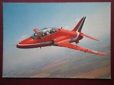 POSTCARD AIR THE RED ARROW HAWK JET