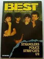 BEST No.183(Oct 1983) STRANGLERS- POLICE- STRAY CATS- U2 - LORDS OF N.C/S.BATORS