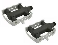 "White ROAD MTB Steel CAGE  Pedals 9/16"" cruiser 9/16 pedal.fixie bicycle pedal"