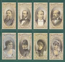 AMERICANS  -  100 SETS OF 8 - HALL (U.S.A.) PRESIDENT CANDIDATES & ACTRESSES