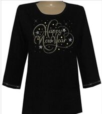 3/4 Sleeve  Round Neck Top - S-XL  and Plus Sizes 1x 2x 3x