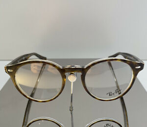 RAY BAN RB5376 SPECTACLE FRAMES COLOUR 5082 HAVANA AND CRYSTAL SIZE 47MM-21MM