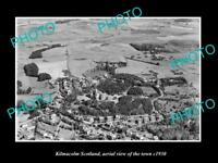 OLD LARGE HISTORIC PHOTO OF KILMACOLM SCOTLAND, AERIAL VIEW OF THE TOWN c1930 2