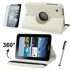 Custodia protettiva per Samsung Galaxy Tab 2 7.0 p3100 360 ° ECOPELLE BORSA BIANCA CASE