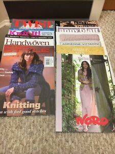 - 9 yarn knitting magazines lot from Different Companies/publications