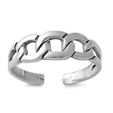 Chain Design Toe Ring Sterling Silver 925 USA Seller