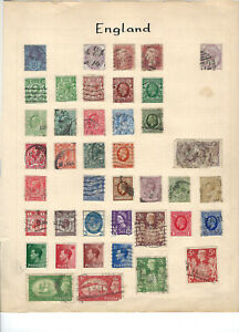 GREAT BRITAIN--COLLECTION-ON PAGES-USED-AV-FINE-MIXED PERIODS-#GB1