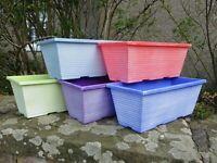 "2 x 14"" Maine Window Box Plastic Garden Flower Pot Deck Patio Plant Herb Planter"
