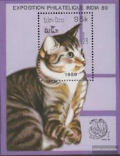 Laos block125 (complete issue) unmounted mint / never hinged 1989 Cats