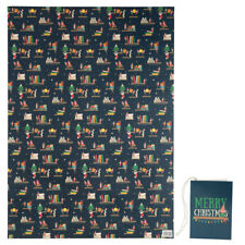 Christmas Elf Wrapping Paper & Tag - Recyclable Christmas Giftwrap Elf's