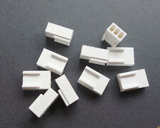 10Pcs White 3-Pin Female Fan Connector Housing Plug 2.54mm Pitch PC Mod Molex