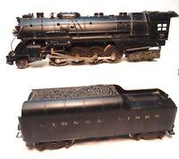 Vintage Lionel #  726 RR Lionel Lines Steam Locomotive with 2046W Whistle Tender