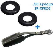 JJC EF-XPRO2 Soft Silicone Eyecup  +Genuine Leather Wrist Strap FUJIFILM X-Pro2