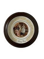 Avon 1973 Betsy Ross Enoch Wedgewood Collector Plate Vintage Framed 7276