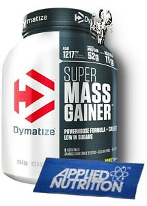 DYMATIZE Super Mass Gainer BCAA Alanine Arginine Powder 2.9kg & Training Towel!