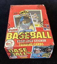 1982 Fleer Baseball Wax Box BBCE FASC From A Sealed Case Free Shipping