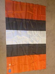 CLEVELAND BROWNS 3x5 FAN FLAG HELMET STRIPE BRAND NEW BAKER GO BROWNS