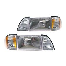 New 1987-93 Ford Mustang Headlight Kit w Amber Sidemarkers 5.0 GT LX Fox Body