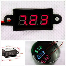 "Auto Car Micro 0.56"" Digital Voltmeter Panel Meter DC3.5-30V Waterproof Red LED"