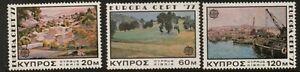 CYPRUS SG482/4 1977 EUROPA (PAINTINGS) MNH