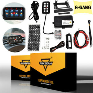 12V/24V AUXBEAM 8 Gang Switch Panel On-Off LED Car Switch Panel Circuit Control