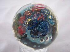 Davis Art Glass Marble Coral Reef Ocean Scene Sea Floor Aquatic Pennsboro WV B