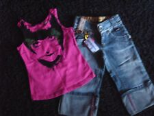 NEW WITH TAGS GIRLS MISS SIXTY THREE QUARTER JEANS & VEST TOP AGE 6 NEXT DAY POS