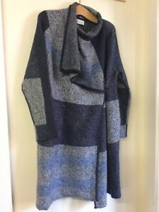 Maison De Nimes Blue/Grey Coatigan Size Small BNWT (jr18)