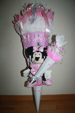 XXL Schultüte ,Zuckertüte ,Minnie Mouse Plüsch, Strass , Schleifen, Einschulung