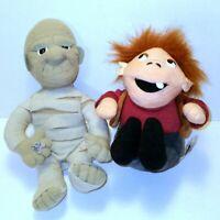 "Vintage 1999 Universal Studios Monsters Plush Stuffins Lot 9"" Mummy Huntchback"