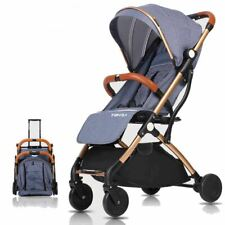 Baby Pram Pushchair Buggy, Foldable Travel Stroller System Airplane Kids Pram UK