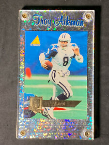 TROY AIKMAN 1995 Pinnacle #22  Club Collection / custom holder / hall of famer