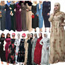 Ramadan Abaya Muslim Women Long Maxi Dress Kaftan Jilbab Dubai Islamic Gown Robe