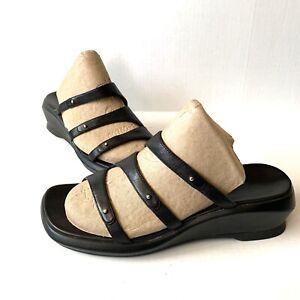 Clarks 3 Strap Leather Wedge Slide Comfort Sandals 32451 Size 7