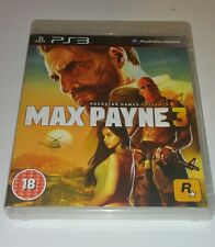 MAX PAYNE 3 PS3 used UK PAL Version Game Sony PlayStation 3 Black Label