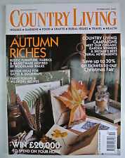 Country Living Magazine. October, 2003. Issue No. 214. Autumn Riches. Rustic Fur