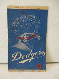1956 Brooklyn Dodgers Vs Pittsburgh Pirates Scorecard