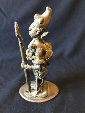 Guerrier Afrique Benin Niger circa 1960 Hauteur 22 cm 2kg090 Bronze cire perdue