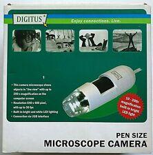DIGITUS PEN SIZE MICROSCOPE CAMERA DA-70350 / Includes All in Original Box