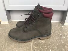 Timberland Womens Boots Suede Khaki Green Size UK7.5 EU41 Great Condition