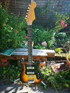 Lovely old 1960's Kay ET200 electric guitar Teisco Classic in Sunburst Finish