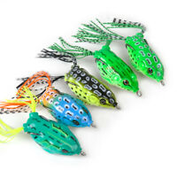 5x Soft Lures Topwater Fishing Lure Crankbait Tackle Frog Hook Bass Bait Tackle